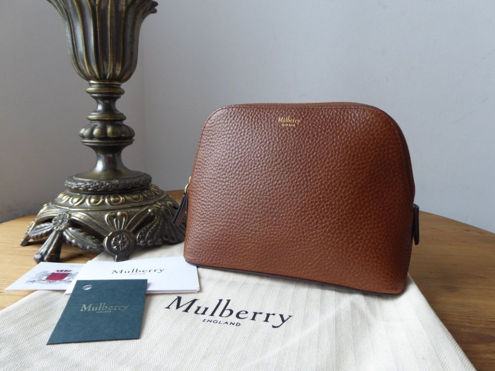 Mulberry Continental Cosmetic Pouch in Oak Grained Vegetable Tanned Leather
