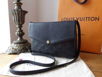 Louis Vuitton Twice Shoulder Pochette in Noir Empreinte