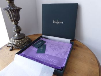 Mulberry Tree Rectangular Scarf in Lavender Mist Silk Cotton Mix - New