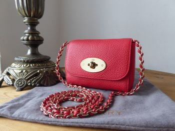 Mulberry Mini Lily in Hibiscus Small Classic Grain Leather