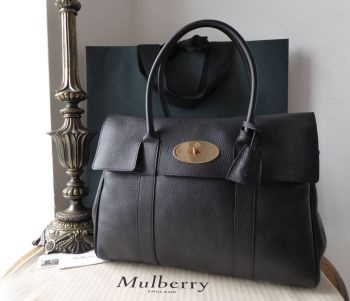 Mulberry Classic Heritage Bayswater in Black Natural Vegetable Tanned Leather - New