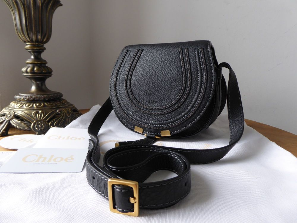 Chloe Marcie Mini Cross Body Satchel in Black Calfskin - New*