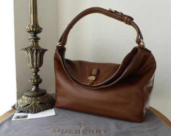 Mulberry Tessie Hobo in Oak Small Soft Grain Leather