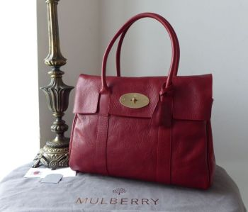 Mulberry Classic Heritage Bayswater in Poppy Red Natural Coloured Vegetable Tanned Leather - New*