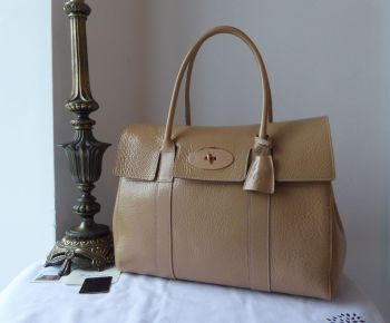Mulberry Classic Bayswater in Nude Spongy Patent with Rose Gold Hardware