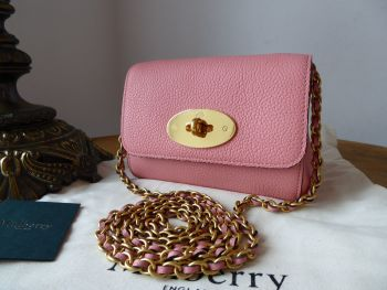 Mulberry Mini Lily in Macaroon Pink Small Classic Grain  - New*
