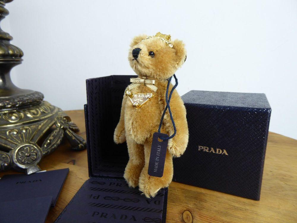 Prada Teddy Trick Orsetto Bear Key Chain Bag Charm New