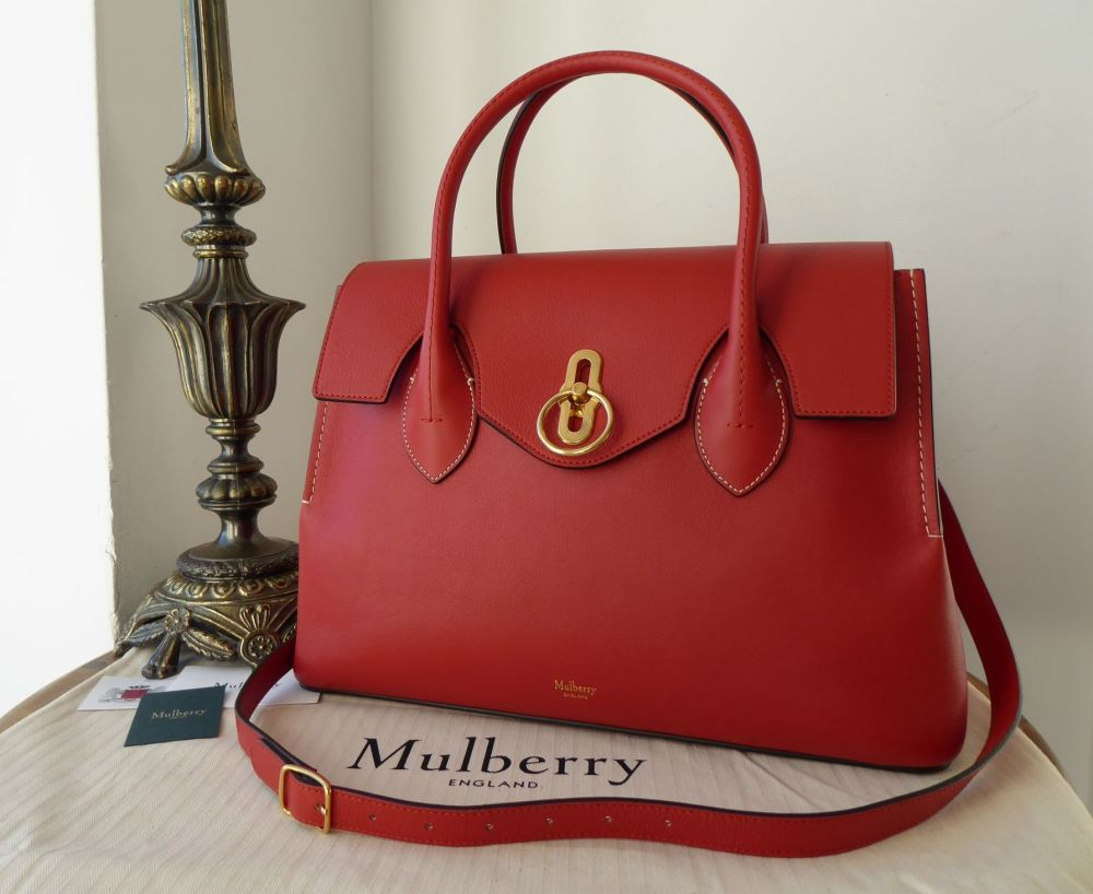 Mulberry Seaton in Red Ochre Silky Classic Calf Leather - New