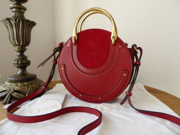 Chloe Small Pixie in Dahlia Red Goatskin & Suede - As New