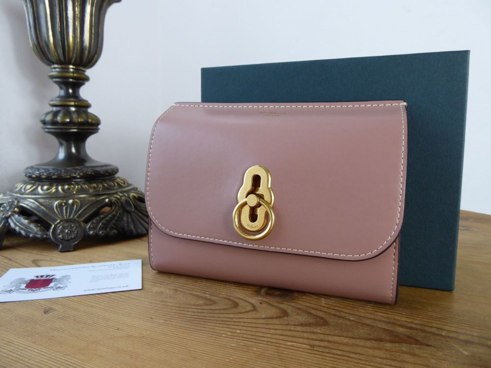 Mulberry Amberley Medium Purse Wallet in Dark Blush Smooth Calf