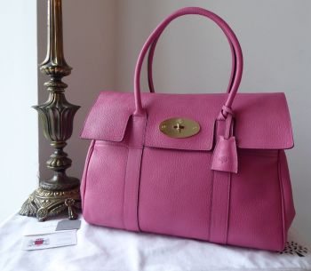 Mulberry Classic Heritage Bayswater in Raspberry Glossy Goat