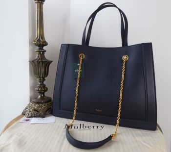 Mulberry Vale Tote in Bright Navy Small Classic Grain - New