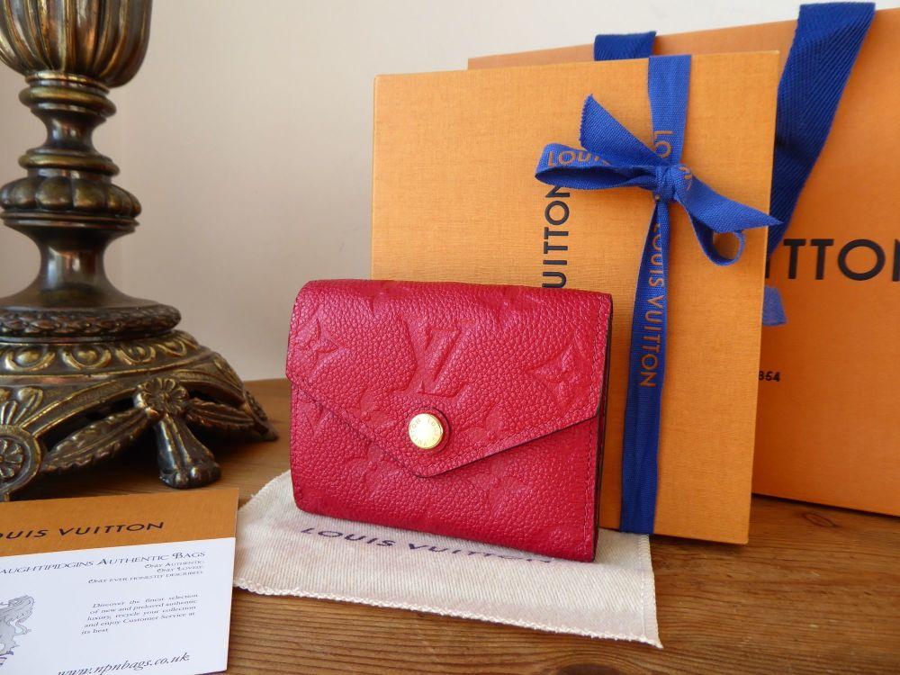 Louis Vuitton Zoe Compact Wallet Purse in Scarlet Red Empreinte