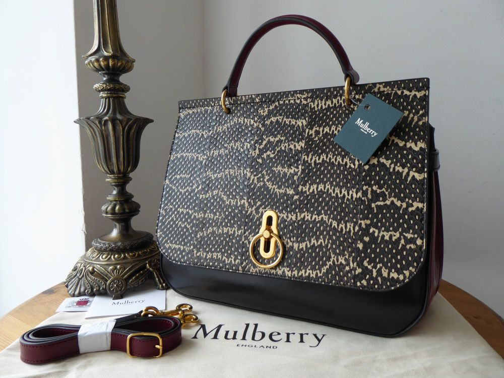 Mulberry Amberley in Multicolour Smooth Calf and Snakeskin - New