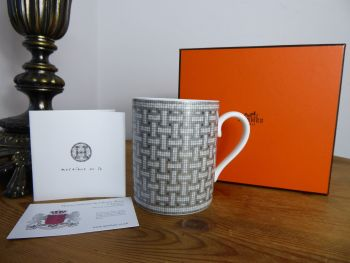 Hermés Collectable Mug 'Mosaic au 24' in Platinum - New