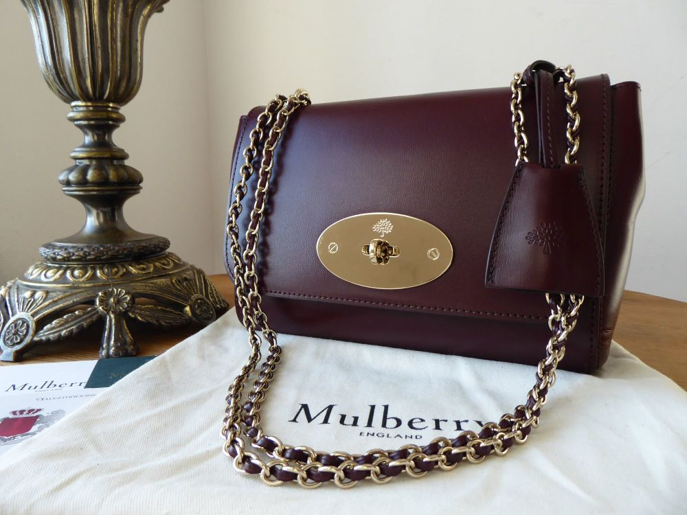 Mulberry Regular Lily in Burgundy Crossboarded Calf & Liner