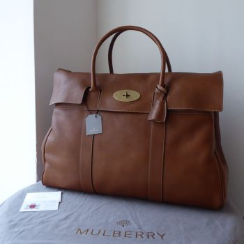 Mulberry Piccadilly Large Travel Bayswater In Oak Natural Vegetable Tanned Leather - New*