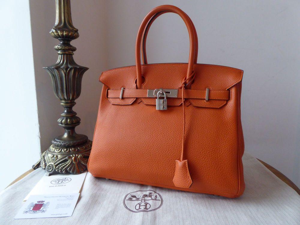 Hermés Birkin 30cm in Orange Togo with Palladium Hardware