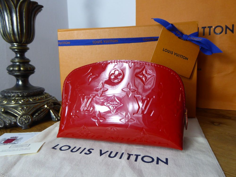 Louis Vuitton Cosmetic Pouch in Cherry Vernis - New*