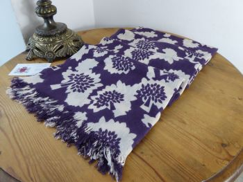 Mulberry Floral Tree Scarf Wrap in Grape Soda Bamboo and Soya Mix