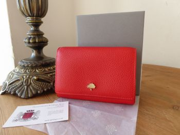 Mulberry Tree French Purse in Fiery Red Small Classic Grain - New*