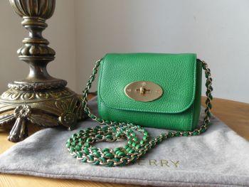 Mulberry Mini Lily in Jungle Green Small Classic Grain Leather