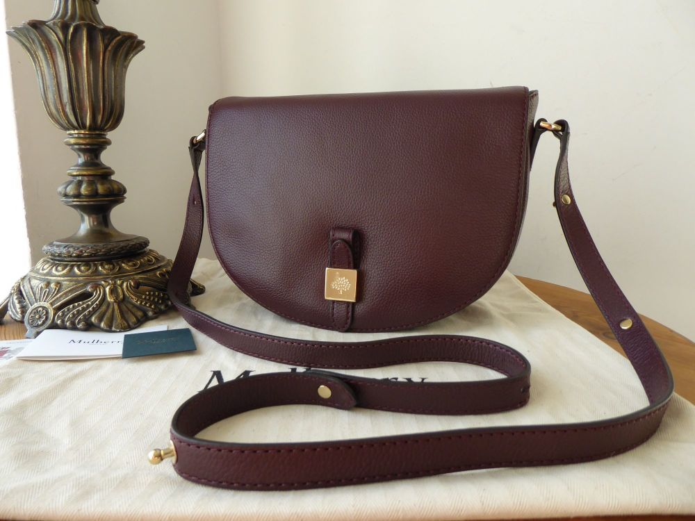 Mulberry Tessie Satchel in Oxblood Classic Grain Leather - New