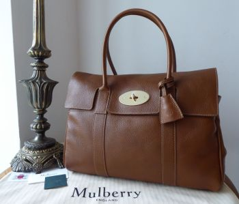 Mulberry Classic Heritage Bayswater in Oak Natural Vegetable Tanned Leather - New