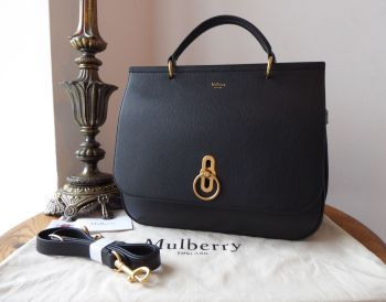 Mulberry Amberley in Black Small Classic Grain - As New*