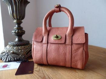 Mulberry Classic Mini Bayswater Sample in Salmon Natural Vegetable Tanned Leather
