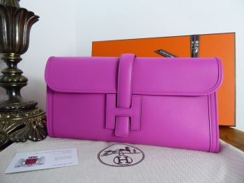 Hermés  Jige Elan Clutch 29 in Magnolia Pink Swift Calfskin - New*