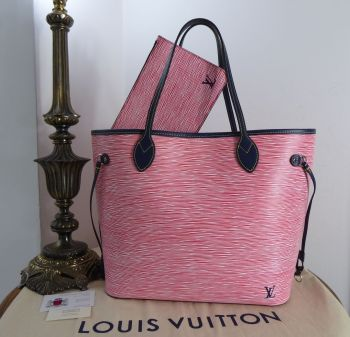 Louis Vuitton Neverfull MM in Epi Denim Rouge