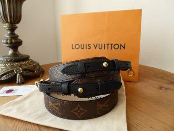 Louis Vuitton Bandouliere XL Monogram Noir Leather Shoulder Strap - As New