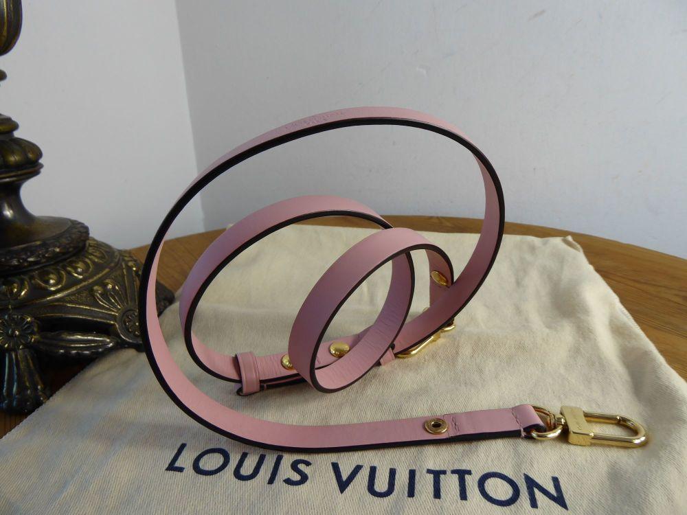 Louis Vuitton Adjustable Shoulder Strapin Rose Ballerine Calfskin