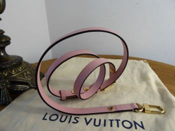 Louis Vuitton Adjustable Shoulder Strap in Rose Ballerine Calfskin