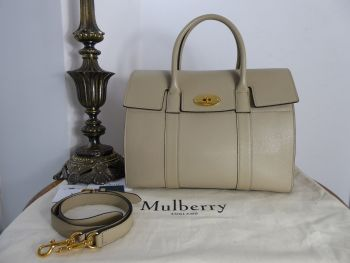 Mulberry Bayswater with Strap in Dune Small Classic Grain Leather