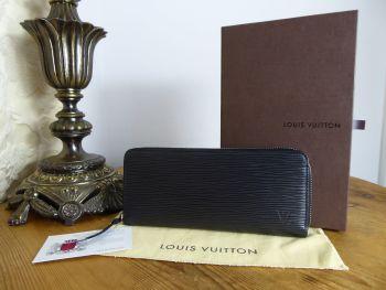 Louis Vuitton Clémence Zip Around Continental Wallet in Epi Noir