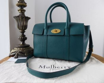 Mulberry Small Bayswater Satchel in Ocean Green Small Classic Grain