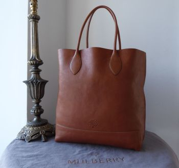 Mulberry Blossom Tote in Oak Natural Vegetable Tanned Leather