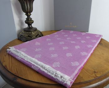 Mulberry Tree Rectangular Scarf Wrap in Mulberry Pink Cashmere Silk Mix - As New*