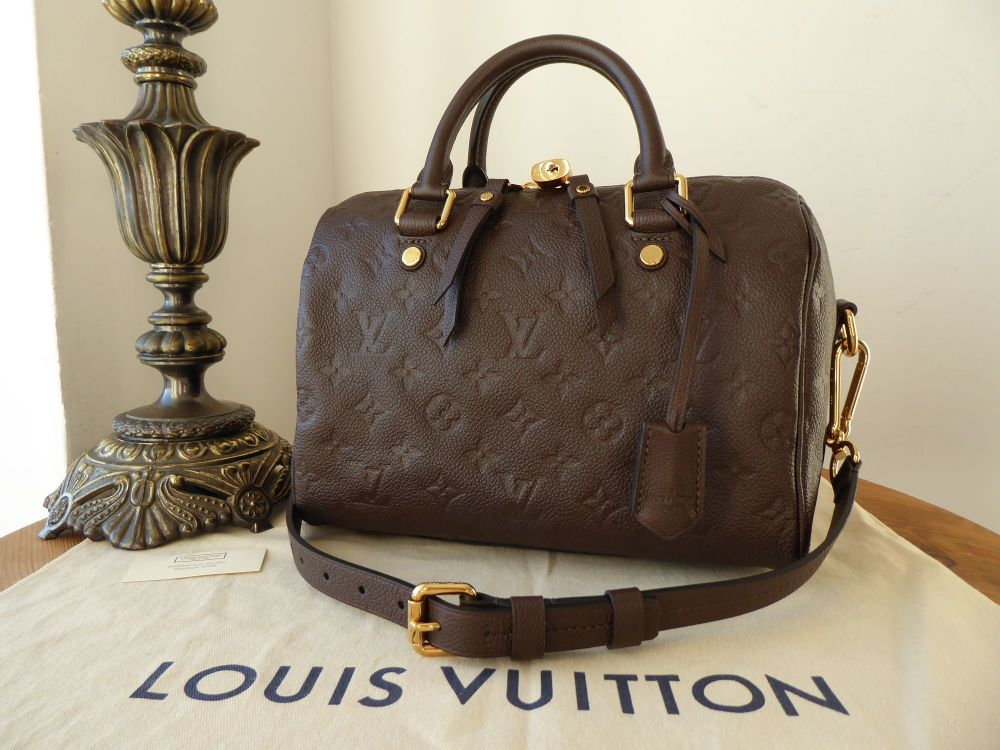 Louis Vuitton Speedy Bandoulière 25 in Terre Brown Monogram Empreinte