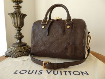 Louis Vuitton Speedy Bandoulière 25 in Terre Brown Monogram Empreinte