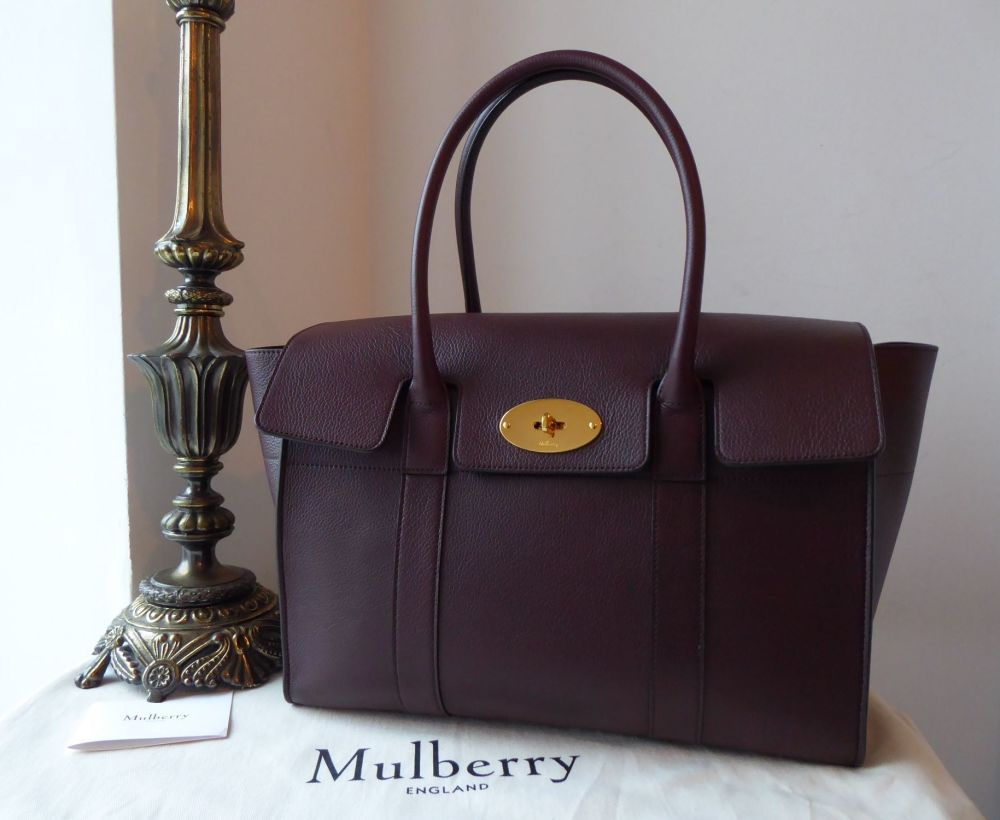 Mulberry New Style Bayswater in Oxblood Small Classic Grain Leather