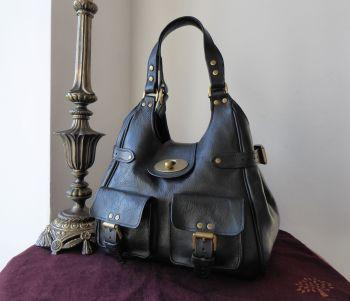 Mulberry Annie Shoulder Bag in Black Darwin Leather