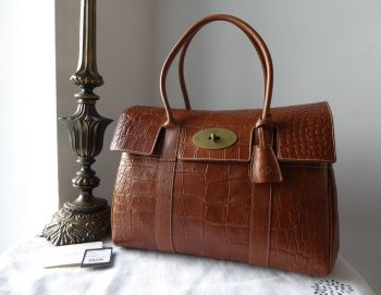 Mulberry Classic Heritage Bayswater in Oak Printed Vegetable Tanned Leather