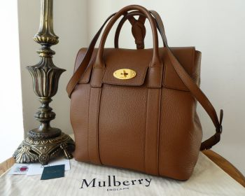 Mulberry Bayswater Backpack in Oak Small Classic Grain Leather