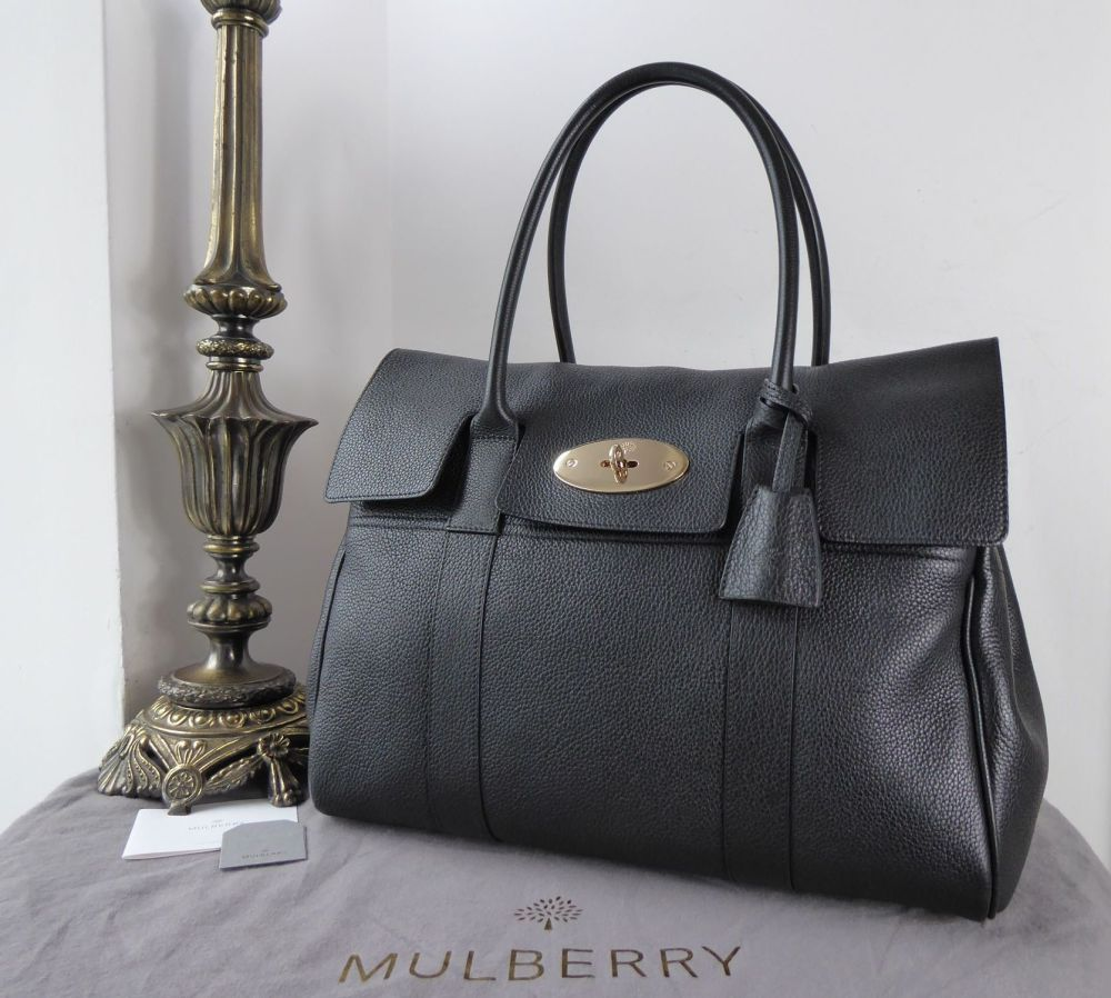 Mulberry Classic Bayswater in Black Small Classic Grain Leather