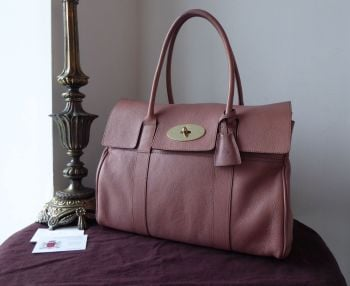 Mulberry Classic Heritage Bayswater in Dark Blush Glossy Goat with Felt Liner