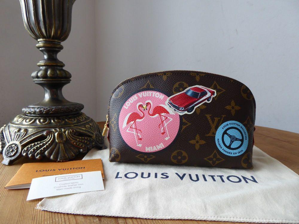 Louis Vuitton Limited Edition World Tour Cosmetic Pouch Pochette Cosmetique