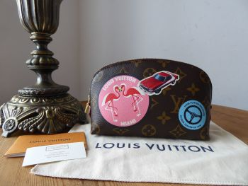 Louis Vuitton Limited Edition World Tour Cosmetic Pouch Pochette Cosmetique  - New